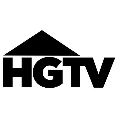HGTV logo in black and white